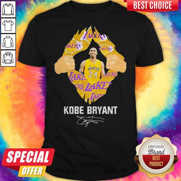 Awesome Blood Inside Me Kobe Bryant Signature Shirt