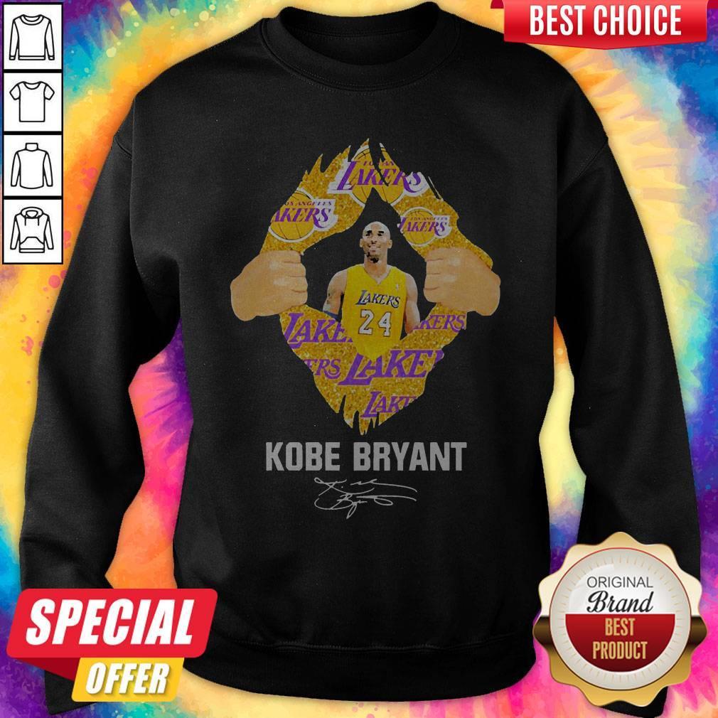 Awesome Blood Inside Me Kobe Bryant Signature Sweatshirt