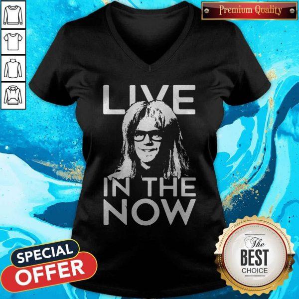 Funny Garth Algar Live In The Now V-neck