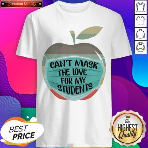 Apple Can't Mask The Love For My Students Vintage Shirt