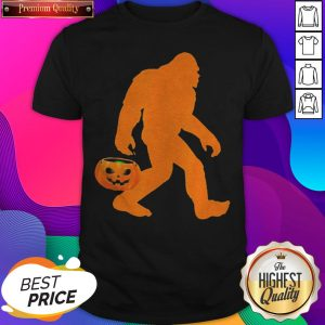 Awesome Bigfoot Pumpkin Halloween Costume Shirt