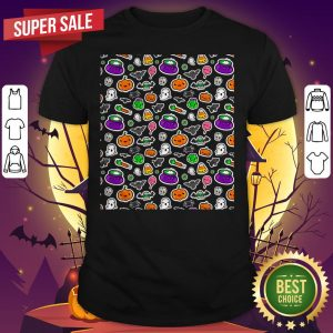 Cute Spoopy Ghosts And Halloween Candy Shirt
