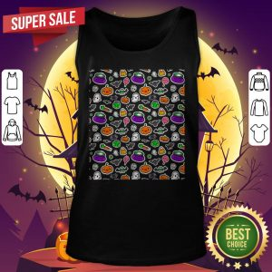 Cute Spoopy Ghosts And Halloween Candy Tank Top