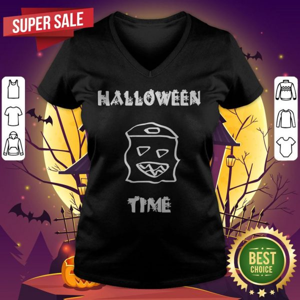 Official Halloween Time Boo V-neck