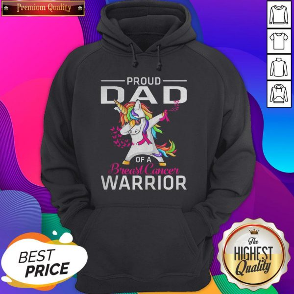 Proud DAD Of A Breast Cancer Warrior Awareness Hoodie