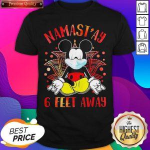 Yoga Chill Mickey Mouse Mask Namastay 6 Feet Away Shirt