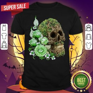 Unique Cool Tree Spirit Skull With Green Flowers Day Of The Dead SweataShirt