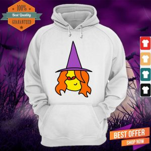 Witch Cartoon With Red Eyes For Halloween Day Hoodie