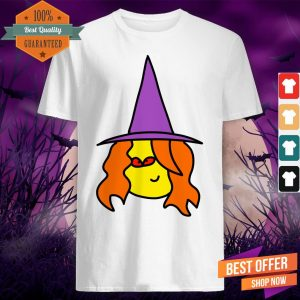 Witch Cartoon With Red Eyes For Halloween Day Shirt