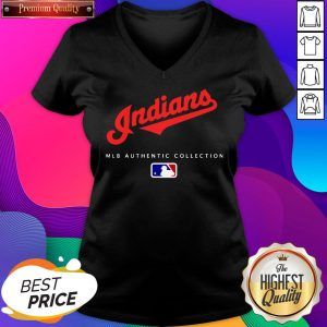 Cleveland Indians MLB Authentic Collection V-neck- Design By Sheenytee.com