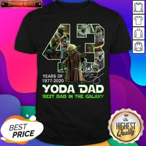 Official 43 Years Of Yoda Dad Best Dad In The Galaxy Signature Shirt- Design By Sheenytee.com