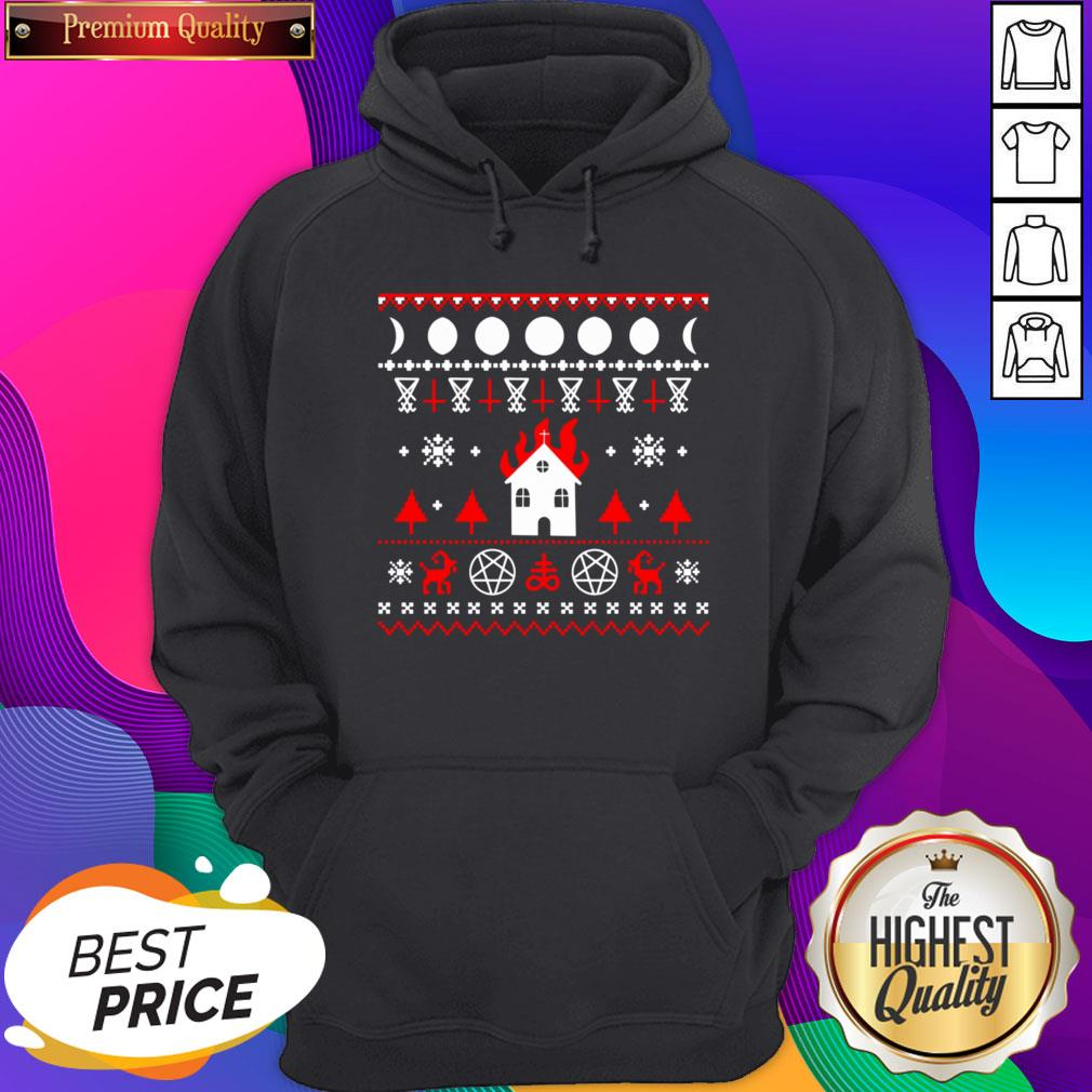 Awesome Burning Church Christmas Hoodie