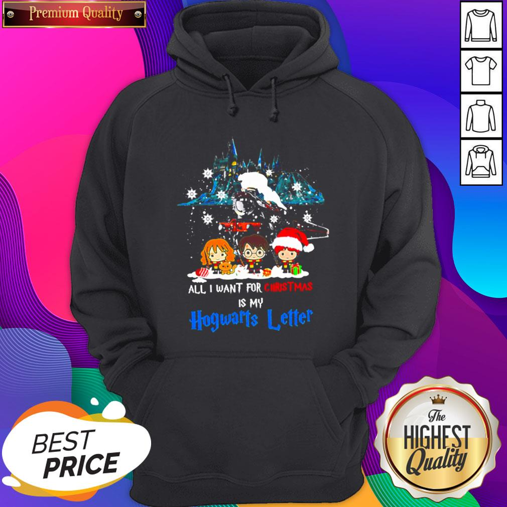 Chibi All I Want For Christmas Is Hogwarts Letter Hoodie
