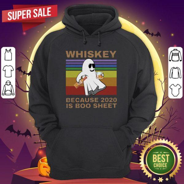 Whiskey Because 2020 Is Boo Sheet Vintage Halloween Hoodie