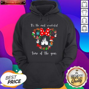Minnie Mouse Disney It's The Most Wonderful Time Of The Year Hoodie