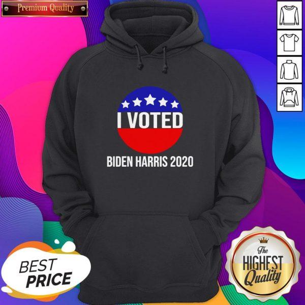 I Voted Biden Harris 2020 Hoodie- Design By Sheenytee.com