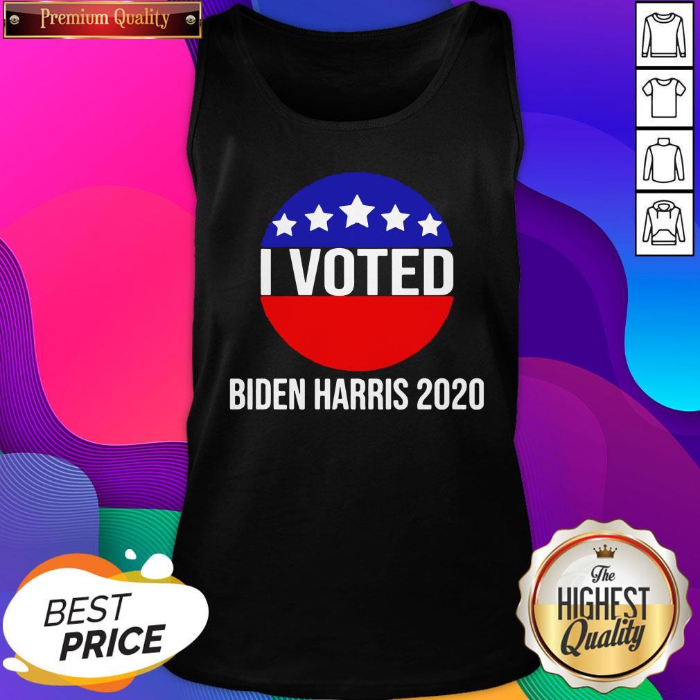 I Voted Biden Harris 2020 Tank Top- Design By Sheenytee.com