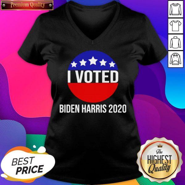 I Voted Biden Harris 2020 V-neck- Design By Sheenytee.com