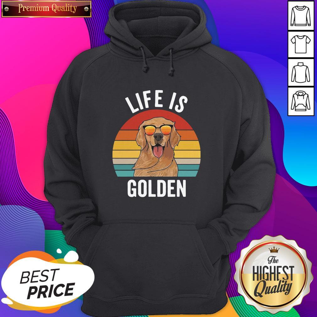 Life Is Golden Dog Lover Vintage Hoodie- Design By Sheenytee.com