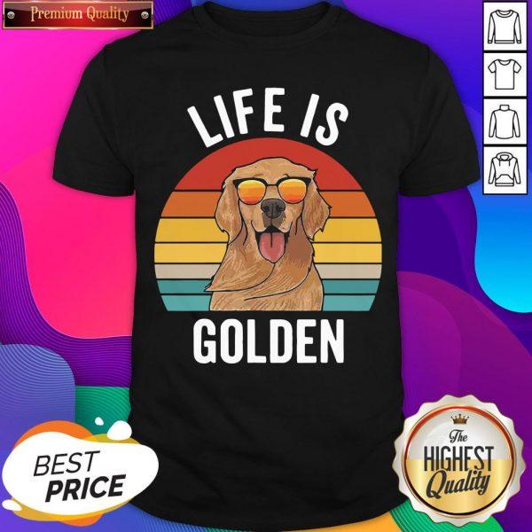 Life Is Golden Dog Lover Vintage Shirt- Design By Sheenytee.com