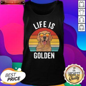 Life Is Golden Dog Lover Vintage Tank Top- Design By Sheenytee.com