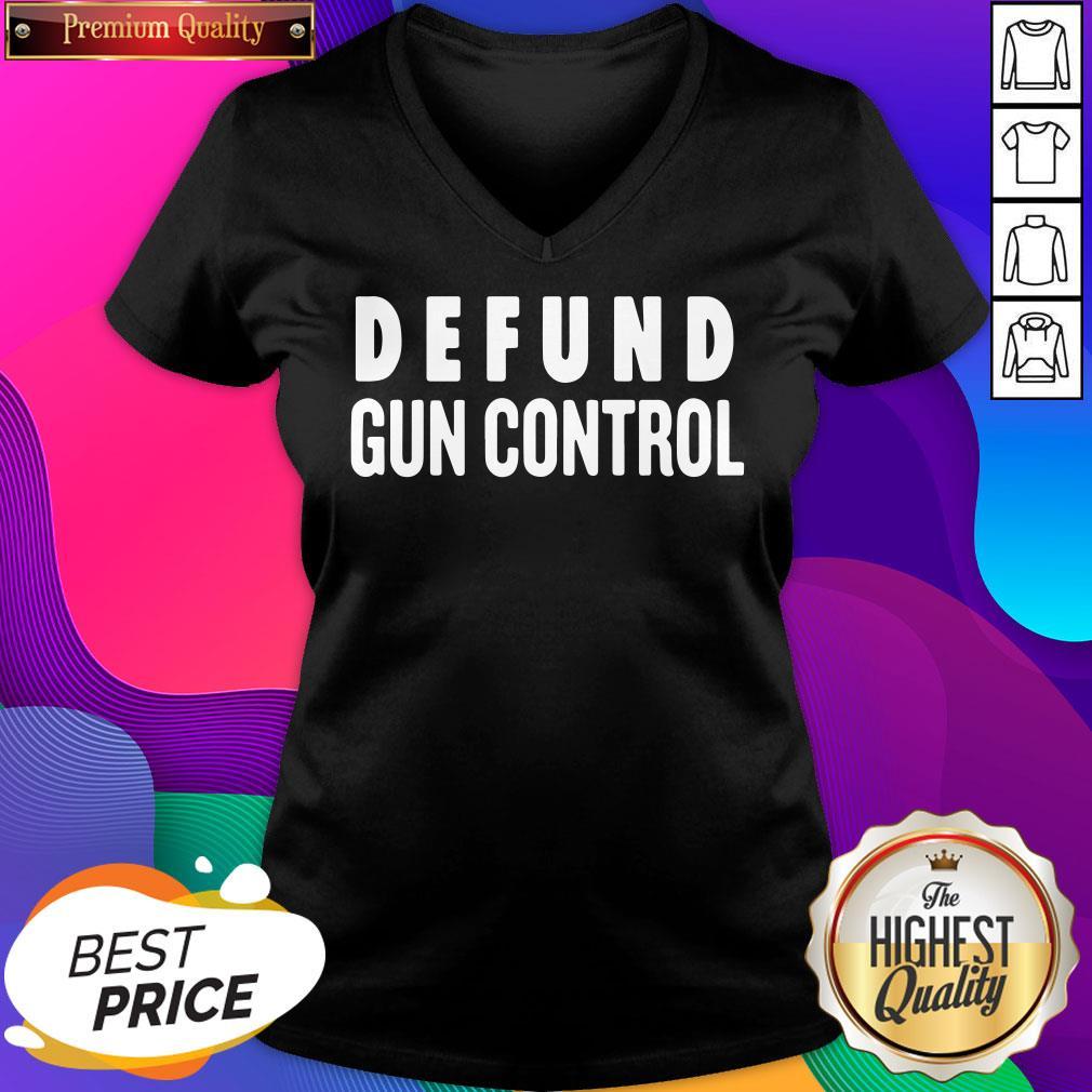 Official Defund Gun Control V-neck- Design By Sheenytee.com