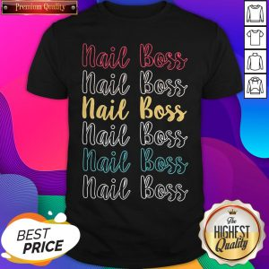 Official Nail Boss Vintage Logo Shirt- Design by Sheenytee.com