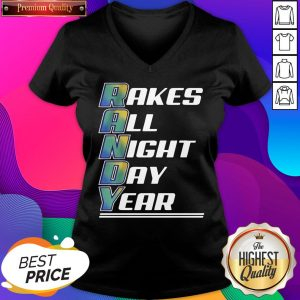 Randy Arozarena Takes All Night Day Year V-neck- Design By Sheenytee.com