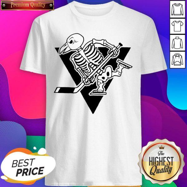 Pittsburgh Penguins Skeleton Halloween Day Shirt