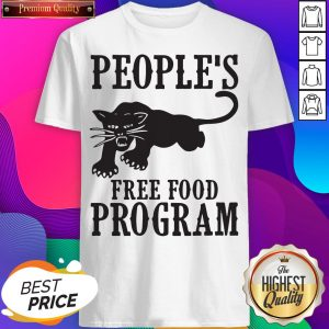 Peoples Free Food Program Black Panther Shirt