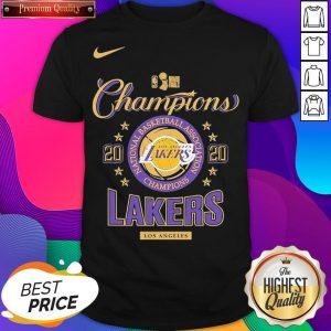 Los Angeles Lakers Nike Toddler 2020 NBA Finals Champions Locker Room Shirt