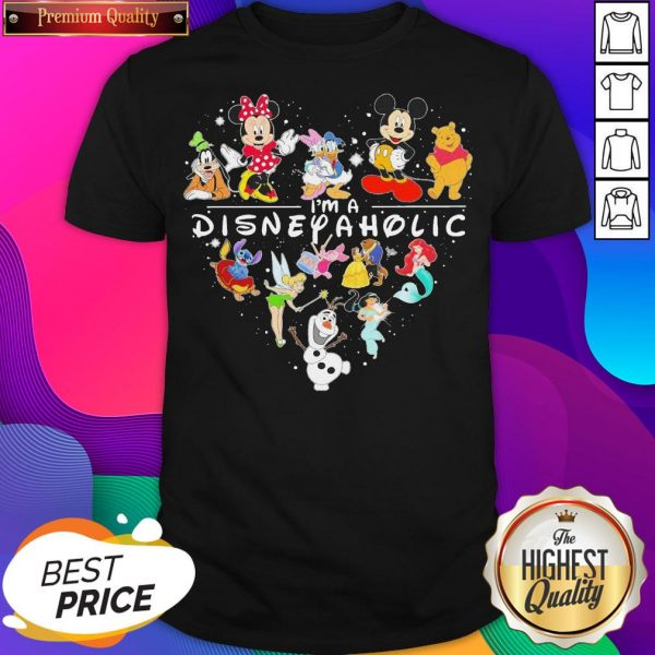 Mickey Mouse And Friend I'm A Disney Aholic Heart Shirt