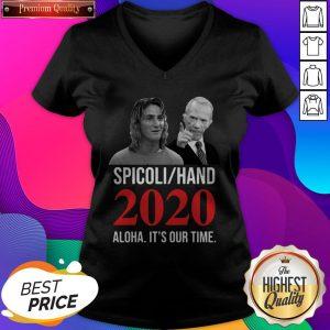 Spicoli Hand 2020 Alqua It'S Our Time V-neck- Design by Sheenytee.com