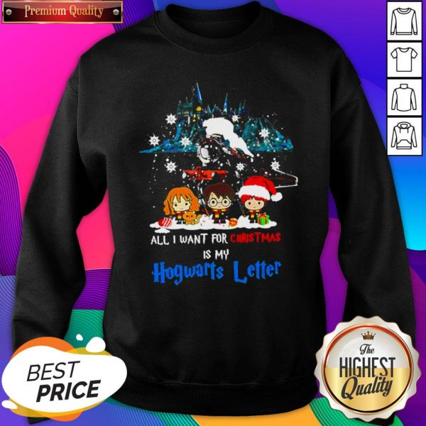Chibi All I Want For Christmas Is Hogwarts Letter SweatShirt