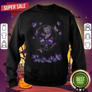 Funny Butterfly Skull In Butterfly Magical Hoodie