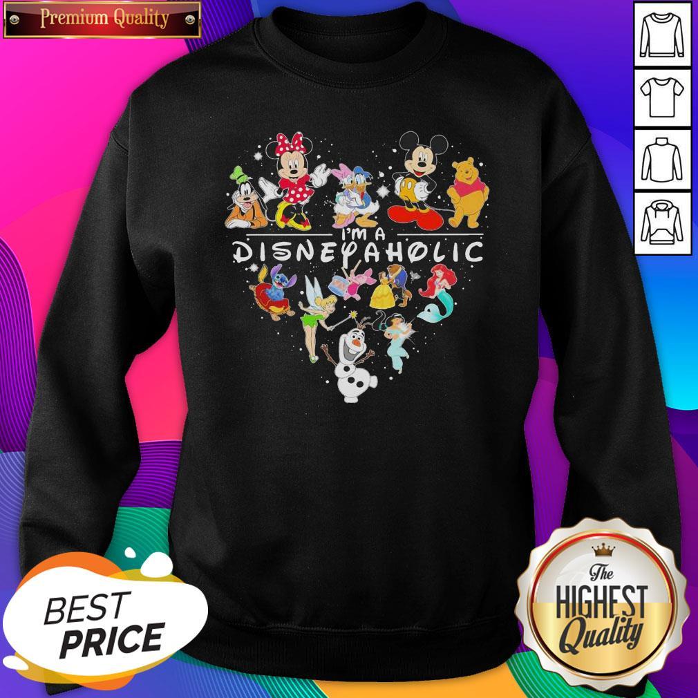 Mickey Mouse And Friend I'm A Disney Aholic Heart SweatShirt