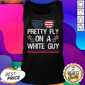 Pretty Fly On A White Guy Glasses American Flag Tank Top