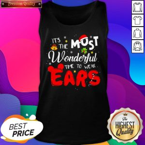 Disney Christmas It's The Most Wonderful Time To Wear Ears Tank Top