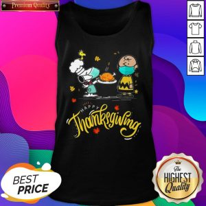 Snoopy And Charlie Brown Face Mask Happy Thanksgiving Tank Top