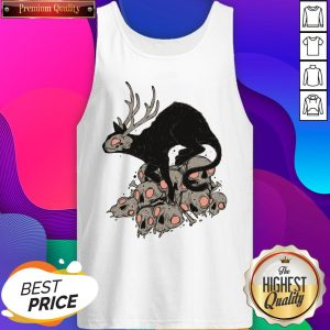 Kitty Demon Skull Halloween Day Tank Top