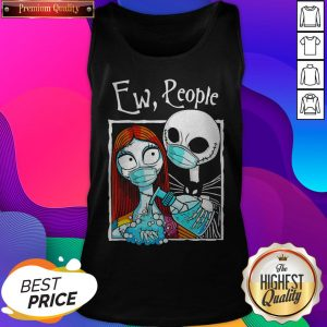 Ew People Jack Skellington And Sally Wear Mask Halloween Tank Top