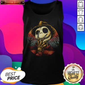 Jack Skellington Freddy Nightmare Halloween Tank Top
