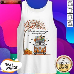 Car Peanuts It's The Most Wonderful Time Of The Year Tank Top