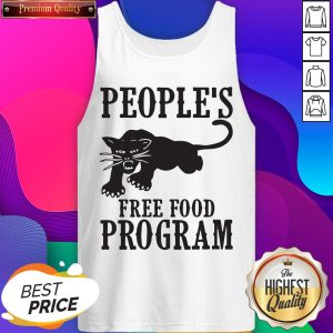 Peoples Free Food Program Black Panther Tank Top