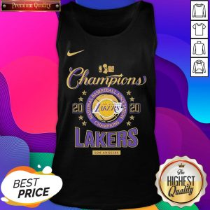 Los Angeles Lakers Nike Toddler 2020 NBA Finals Champions Locker Room Tank Top