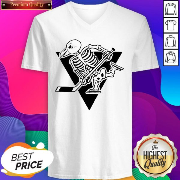 Pittsburgh Penguins Skeleton Halloween Day V-neck