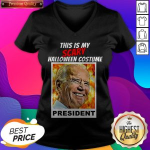Biden Halloween This Is Scary Halloween Costume President V-neck