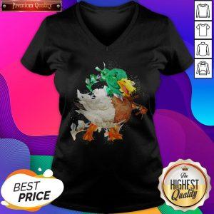 Funny Duck Lover Mom Dad Animal Halloween V-neck