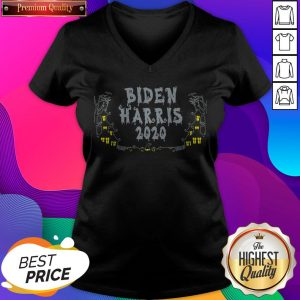 Happy Halloween Biden Harris 2020 V-neck