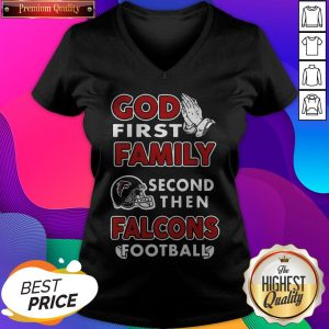 God First Family Second Then Packers Football V-neck